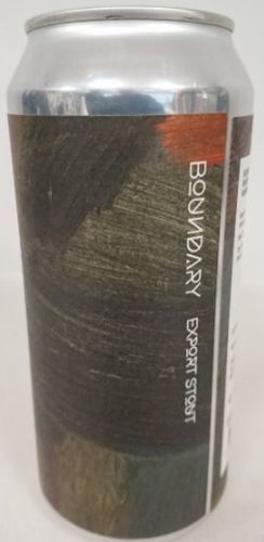 Boundary Brewing Coop Export Stout Lata